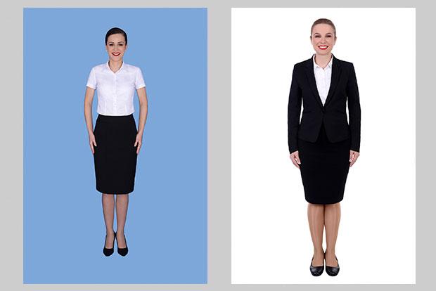 Fotografii stewardesa pentru interviu