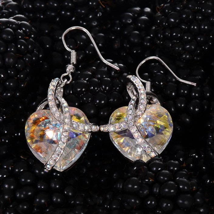 fotografi bijuterii cercei cristal 1